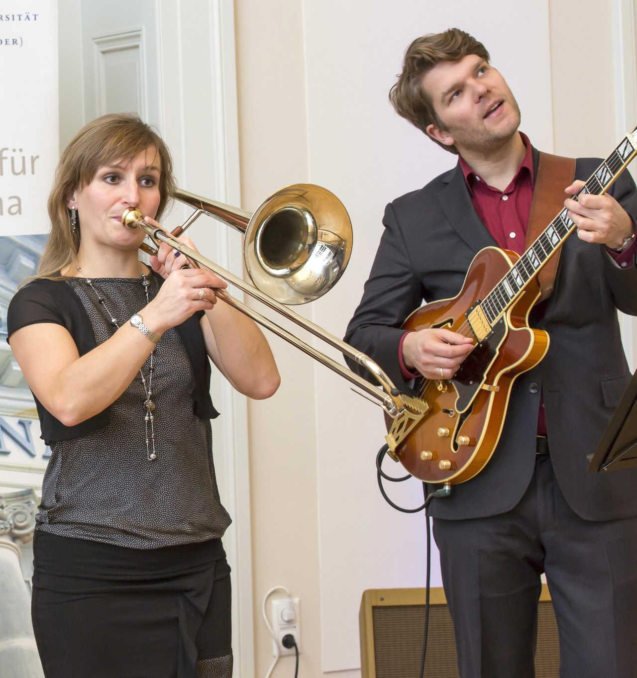 JazzApart Duo, Gitarre und Posaune
